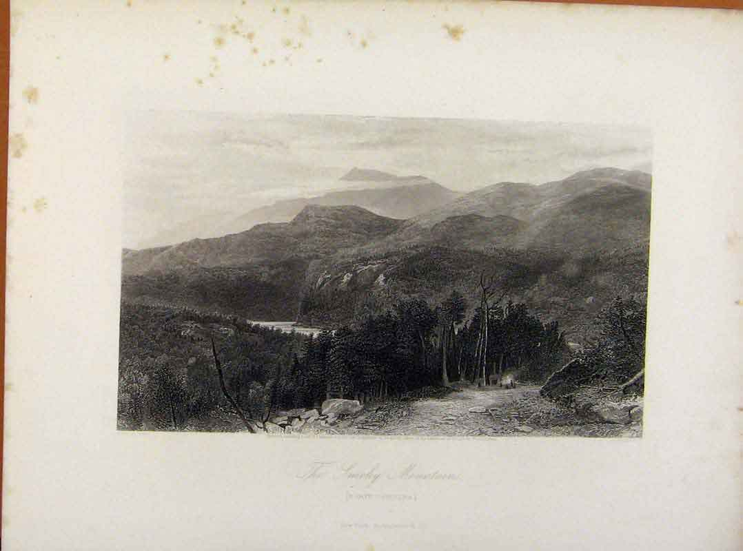 Print Picturesque America Smoky Mountains North Carolina 068961 Old Original