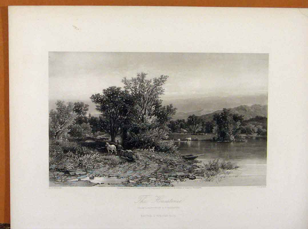 Print Picturesque America Housatonie Steel Engraving C1883 118961 Old Original