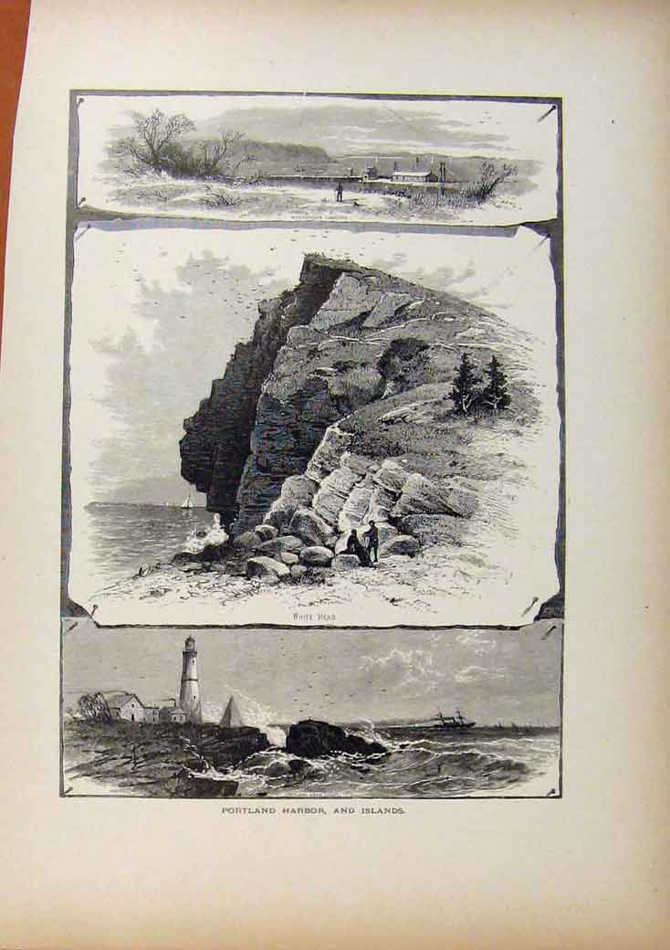 Print Picturesque America The Housatonie Steel Engraving 1883 128961 Old Original