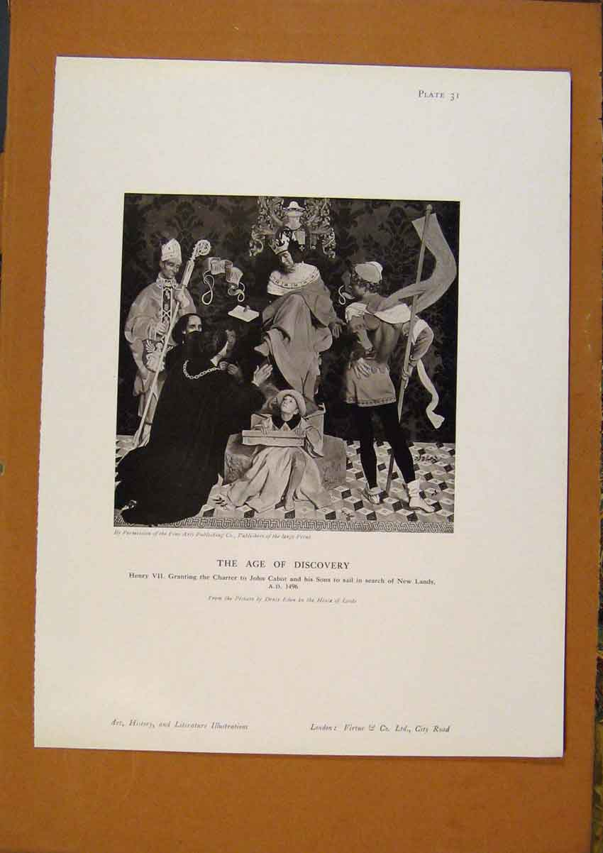 Print Art History The Age Discovery 218971 Old Original