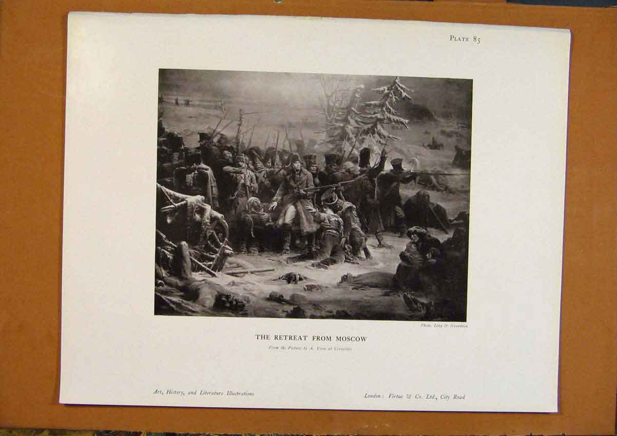 Print Art History The Retreat From Moscow 448971 Old Original