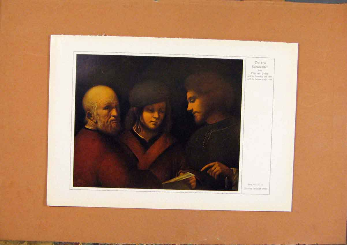 Print German Art Die Drei Lebensalter Color 190 288981 Old Original