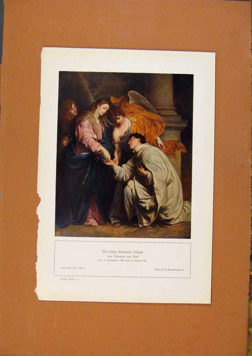 Print German Art Fer Felige Hermann Joseph Color C1902 378981 Old Original