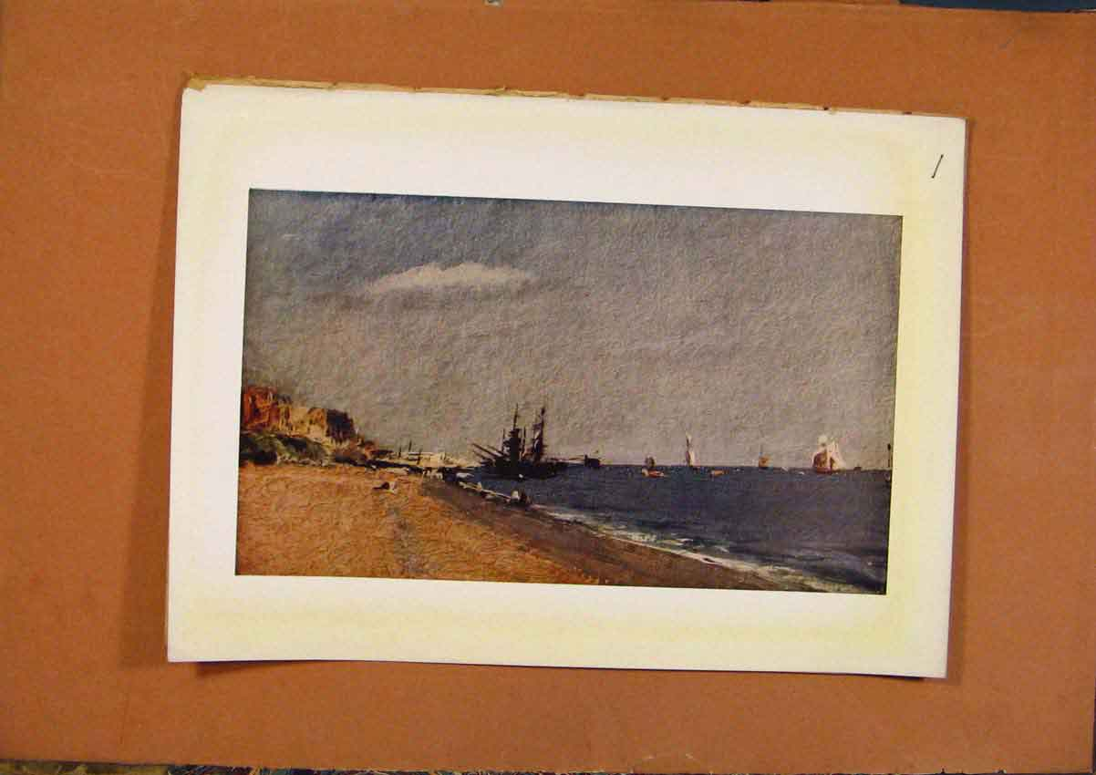 Print C1880-1924 John Constable Brighton Beach 758981 Old Original