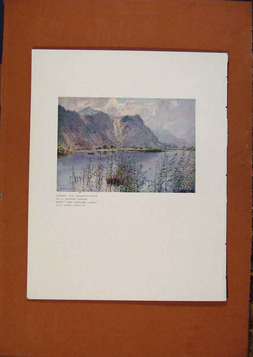 Print The Connoisseur Lodore And Derwentwater By Cooper 808981 Old Original