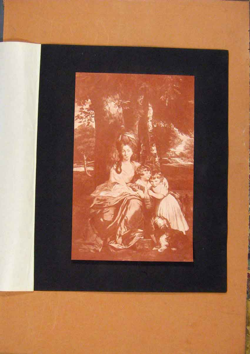 [Old Antique Print The Connoisseur Lady Betty Delme And Children 858981 ]