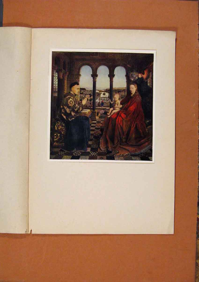 Print The Connoisseur Virgin And Child And Chancellor Rolin 898981 Old Original