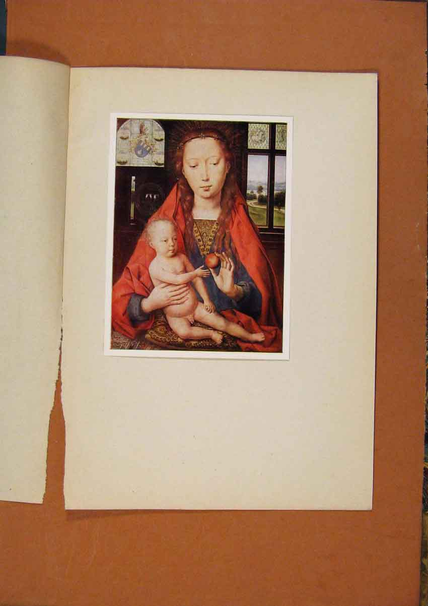 [Old Antique Print The Connoisseur Virgin And Child Color 928981 ]