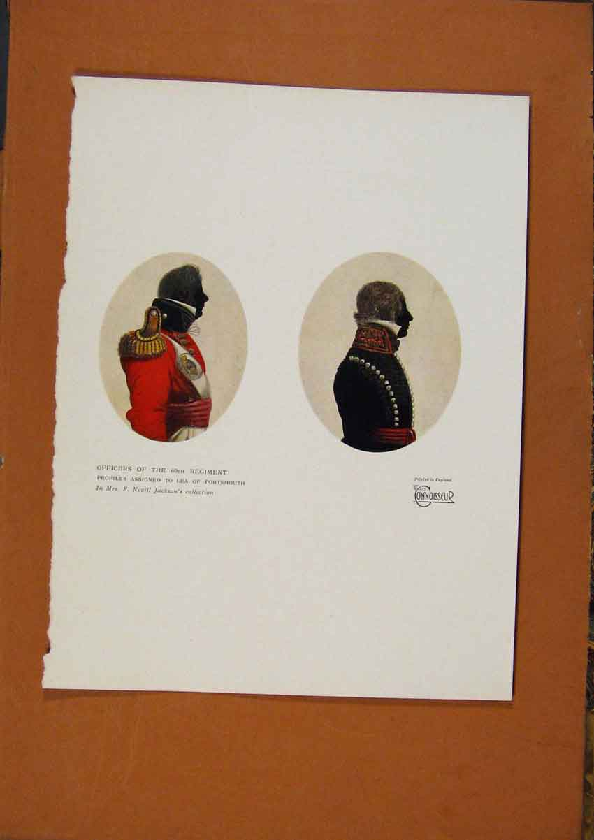 Print The Connoisseur Officers 60Th Regiment C1902 248981 Old Original