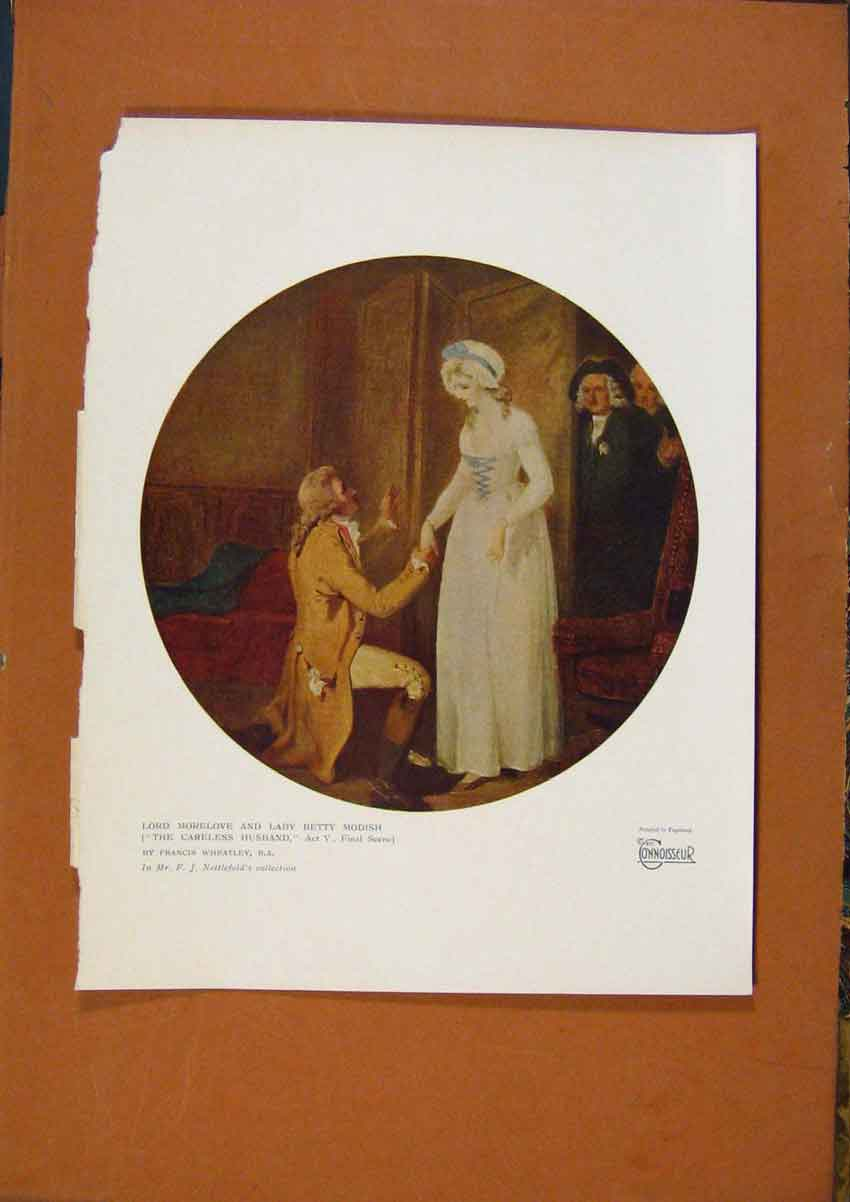 Print The Connoisseur Lord Morelove & Lady Betty Modish 258981 Old Original