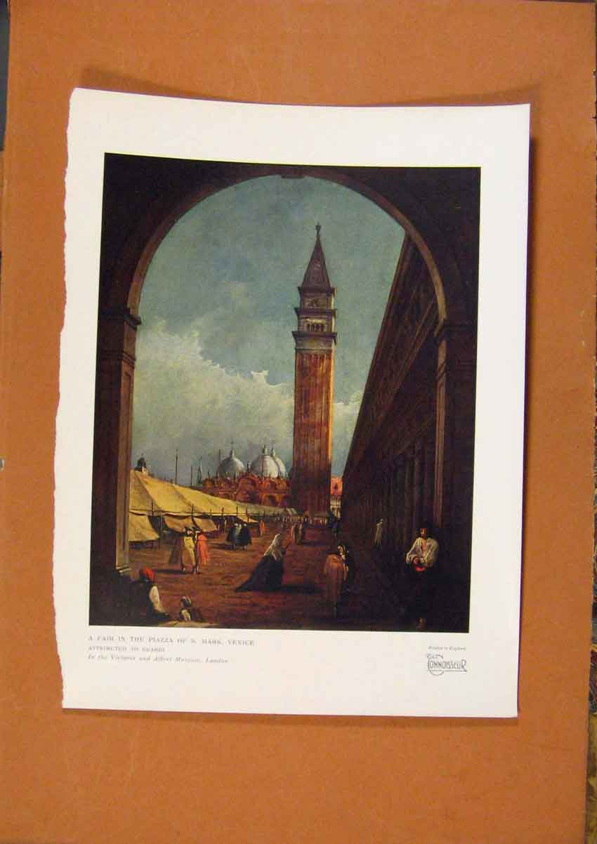 Print The Connoisseur Fair In The Piazza Os S Mark Venice 278981 Old Original