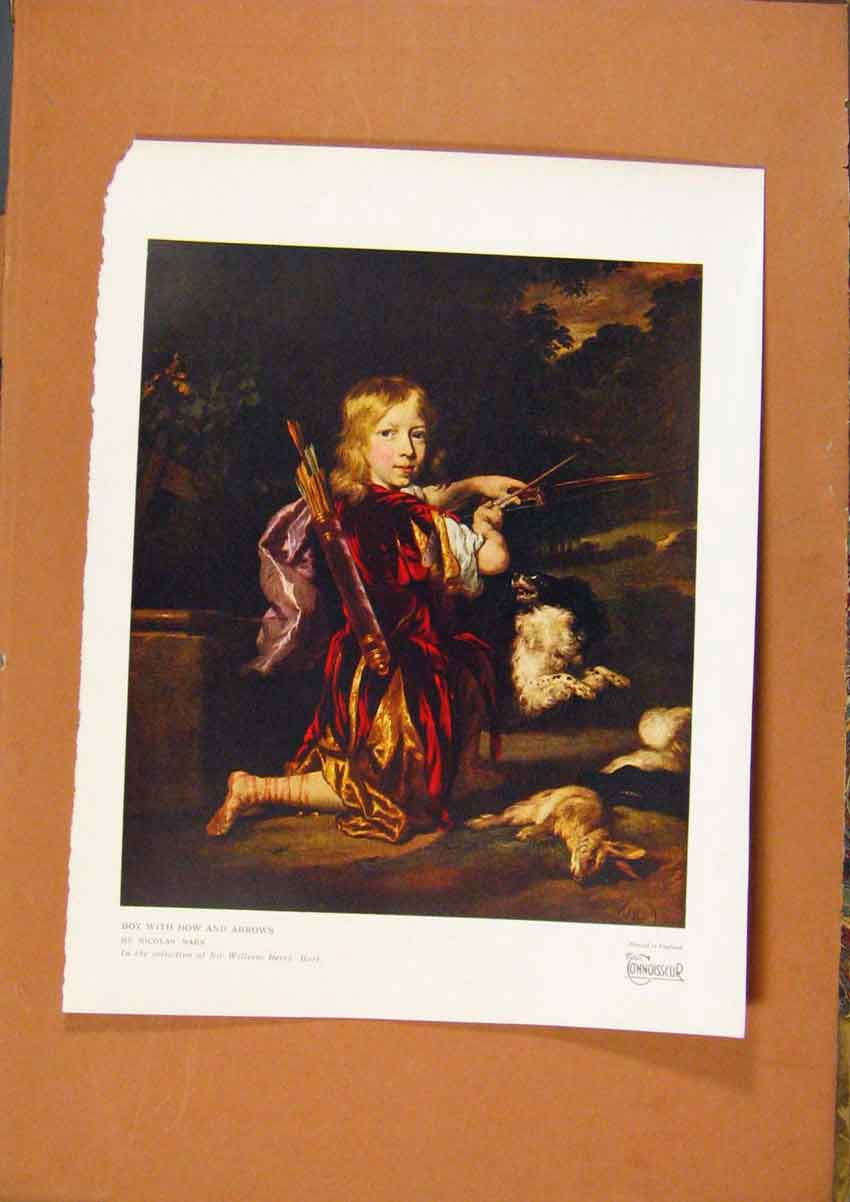 Print The Connoisseur Boy With Bow And Arrows By Maes 288981 Old Original