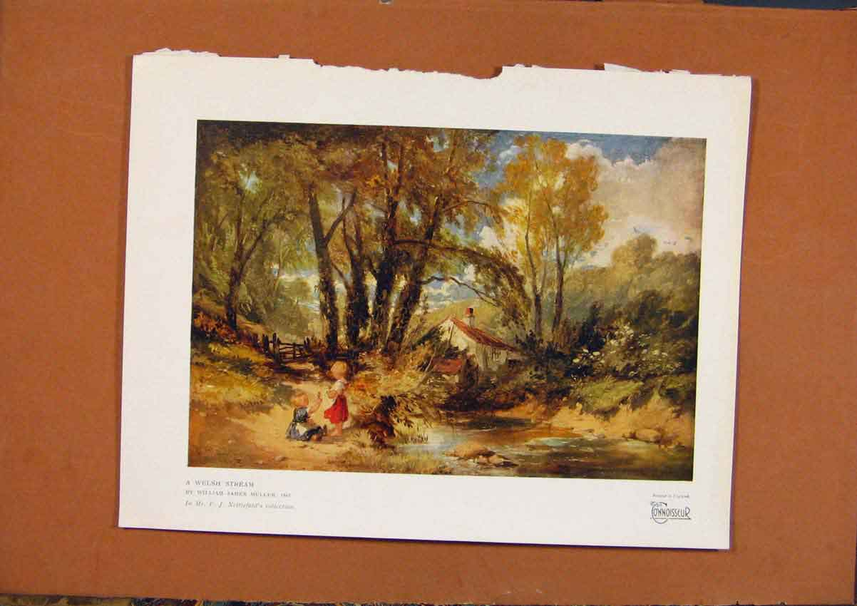 Print The Connoisseur Welsh Stream C1902 348981 Old Original
