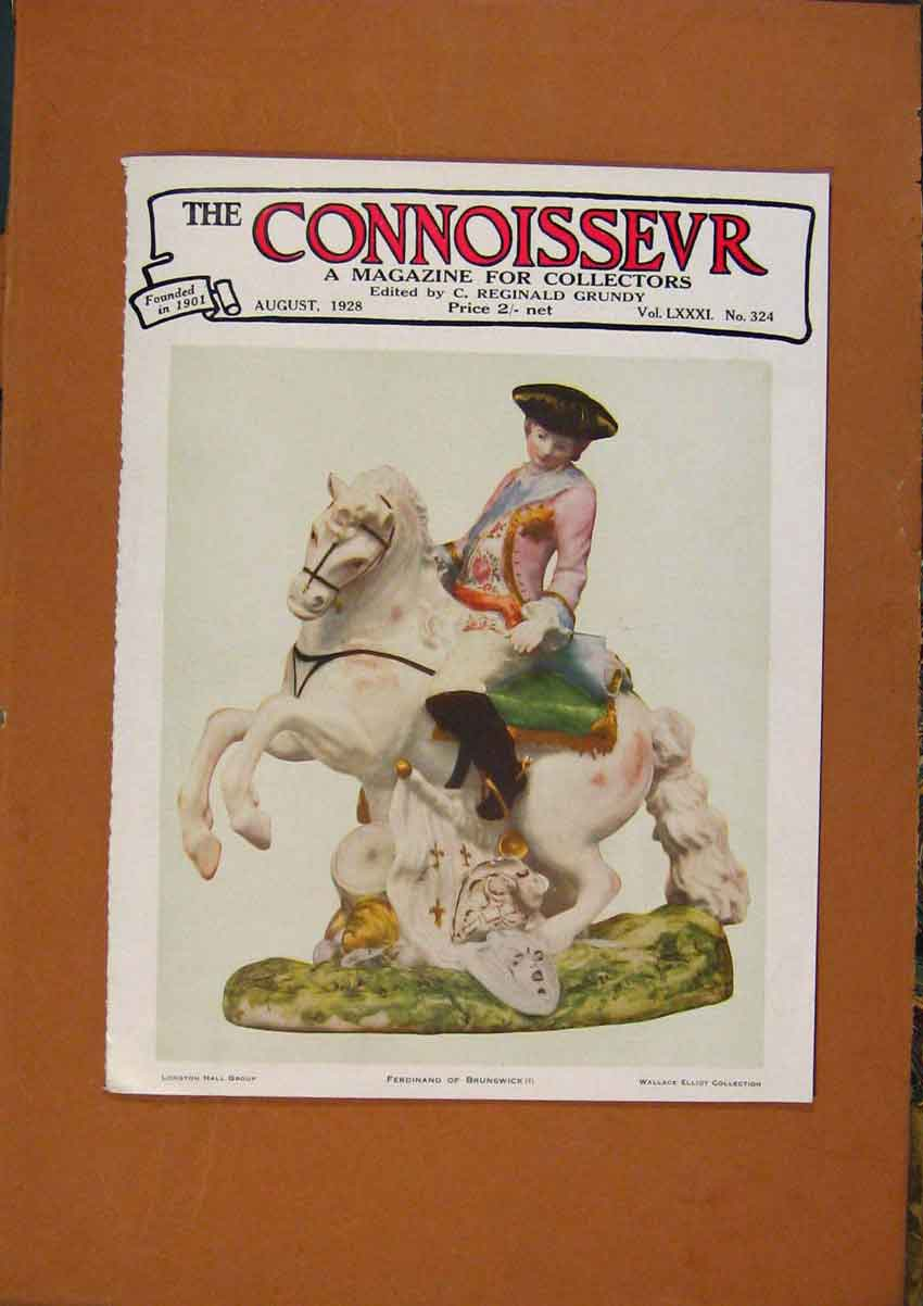 Print The Connoisseur Front Page Magazine 368981 Old Original