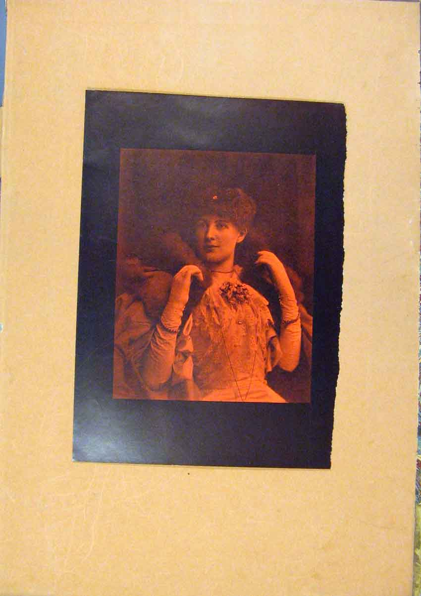 Print C1880-1924 Lady Portrait Color Fine Art 578981 Old Original