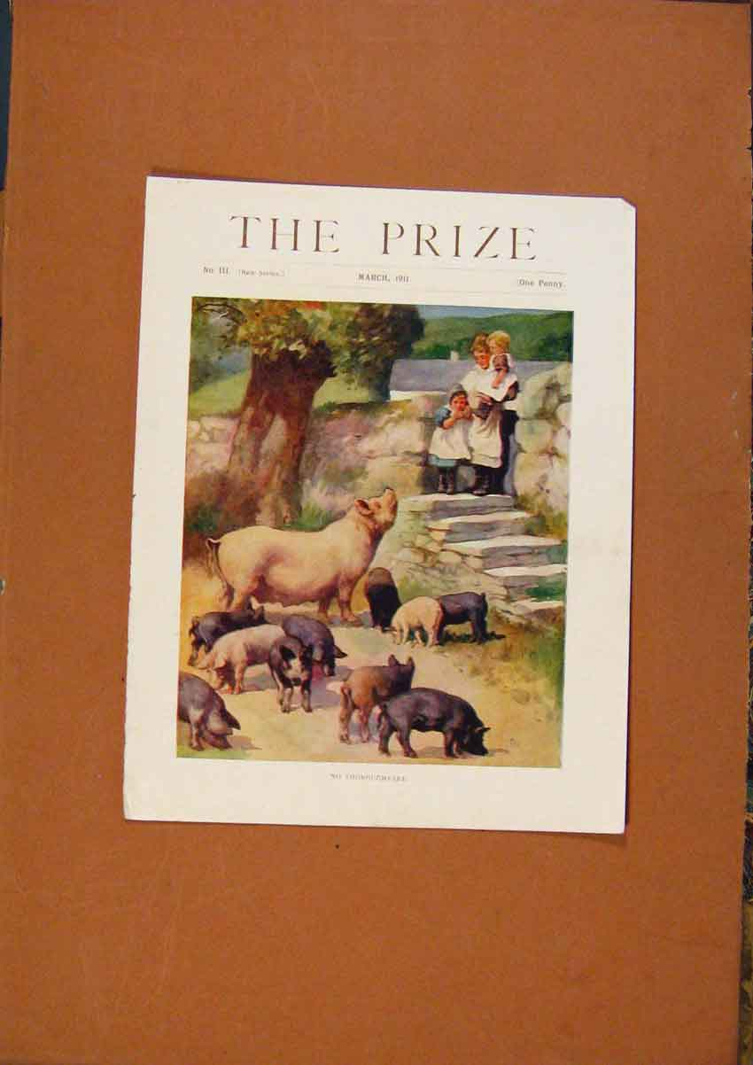 Print C1880-1924 The Prize March 1911 Color 658981 Old Original