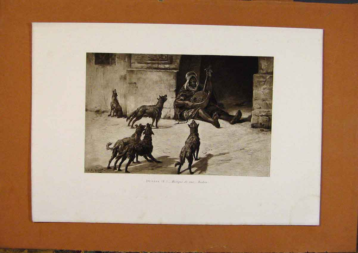 Print Salon 1888 Dupain Musique De Rue Biskra Fine Art 038991 Old Original