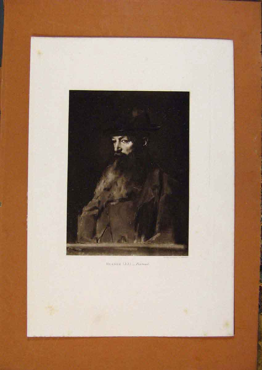 Print Salon 1888 Henner Portrait Fine Art 078991 Old Original