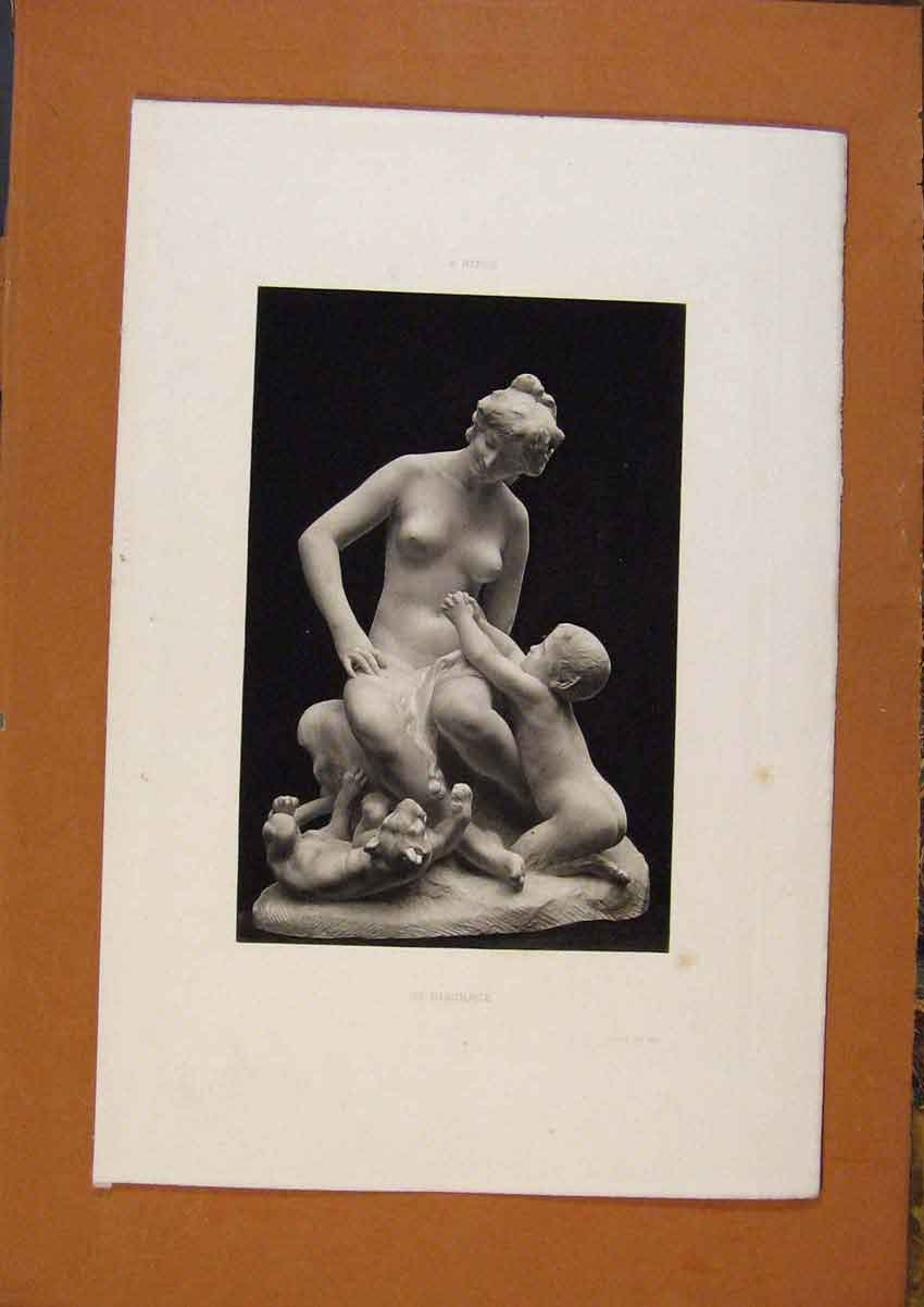 Print Salon 1888 A Mercie In Disgrace Statue Fine Art 258991 Old Original