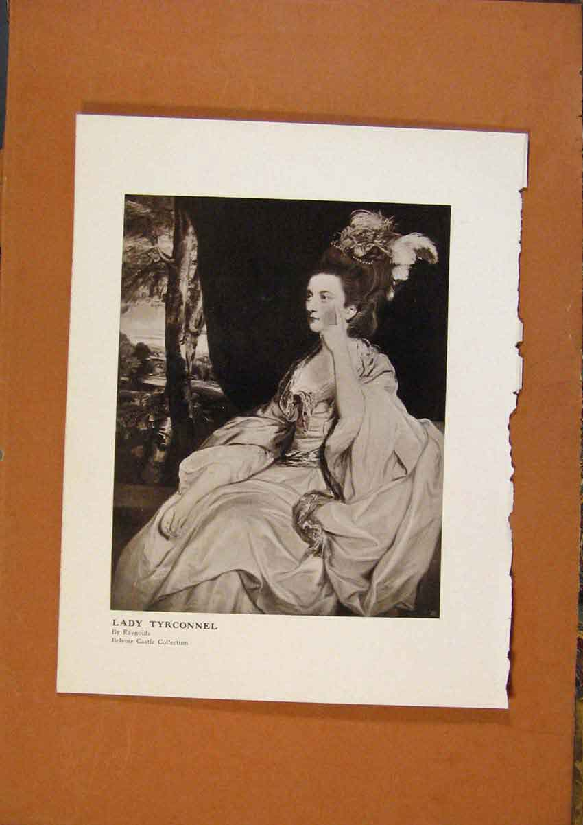 Print Connoisseur 1902-1909 Lady Tryconnel By Reynolds Art 548991 Old Original
