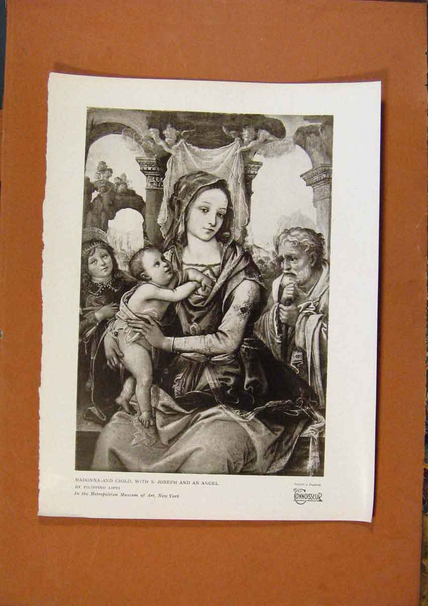Print Connoisseur 1902-1909 Madonna And Child By F Lippi 778991 Old Original