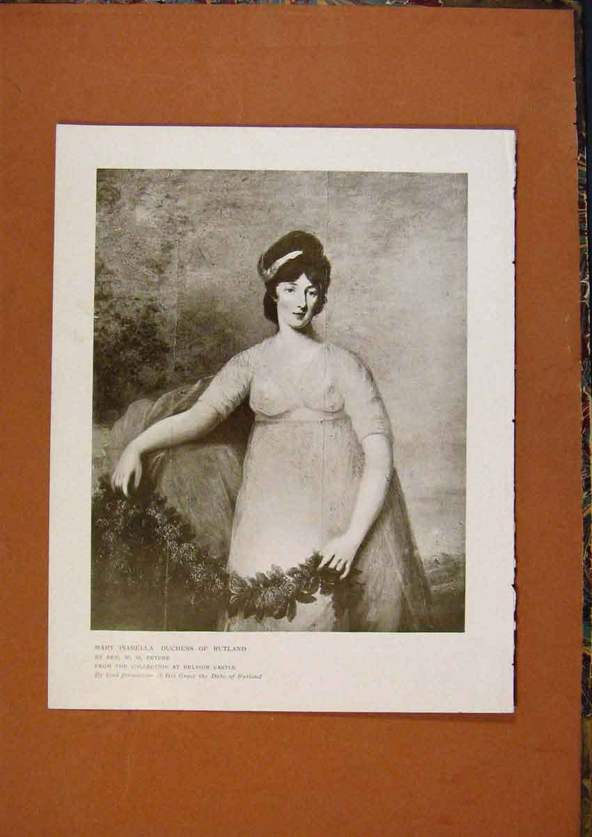 Print Connoisseur 1902-1909 Mary Isabella Duchess Rutland 128991 Old Original