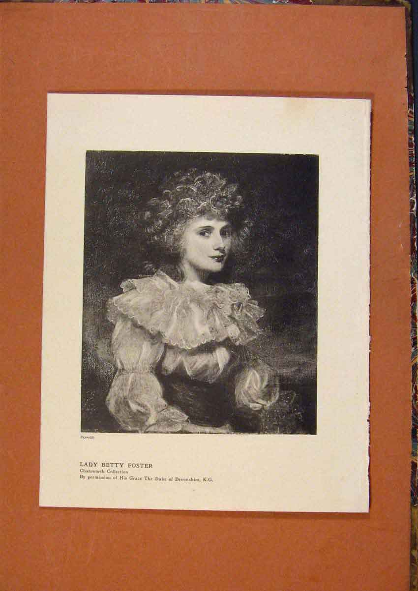 Print Connoisseur 1902-1909 Lady Betty Goster Fine Art 148991 Old Original