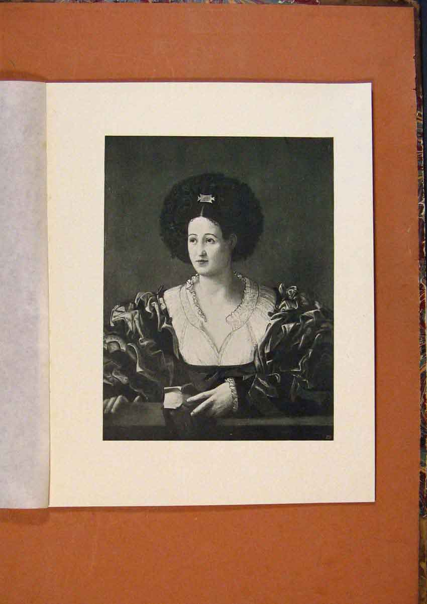 Print Connoisseur 1902-1909 Portrait A Lady Cavazzuola 308991 Old Original