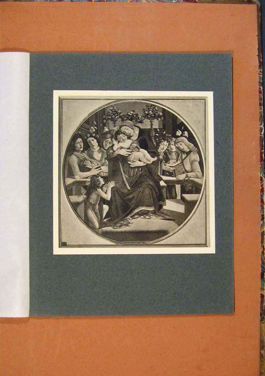 Print Connoisseur 1902-1909 The Virgin And Child Botticelli 318991 Old Original