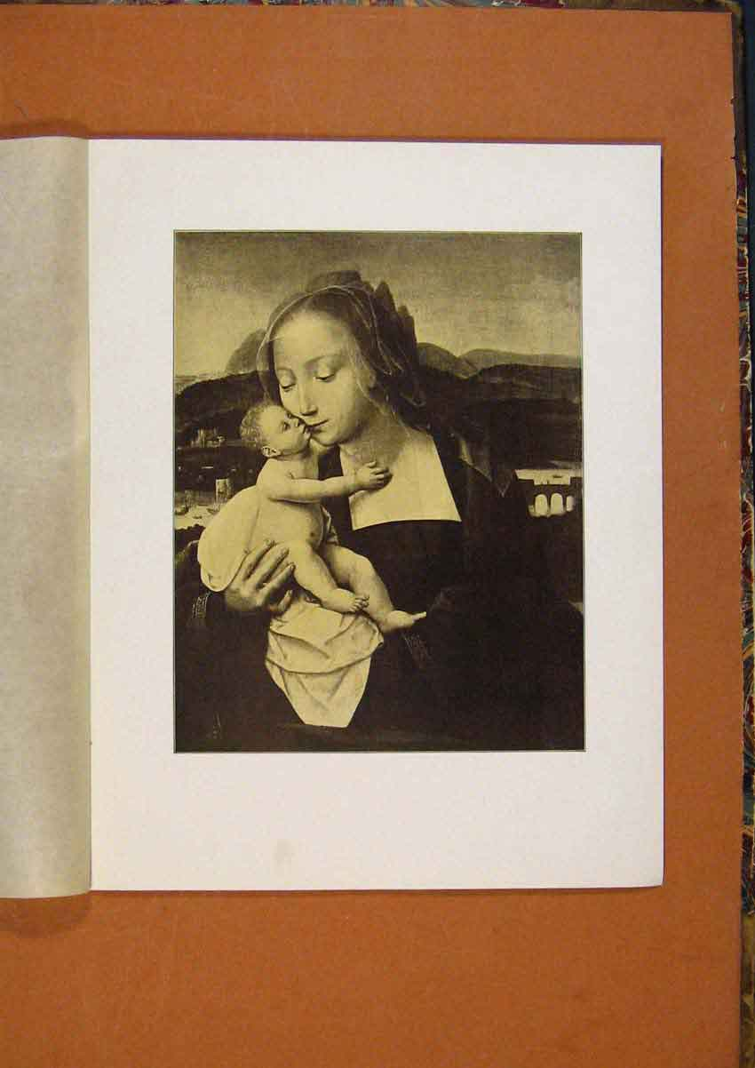 Print Connoisseur 1902-1909 Virgin And Child By Q Matsys Art 378991 Old Original
