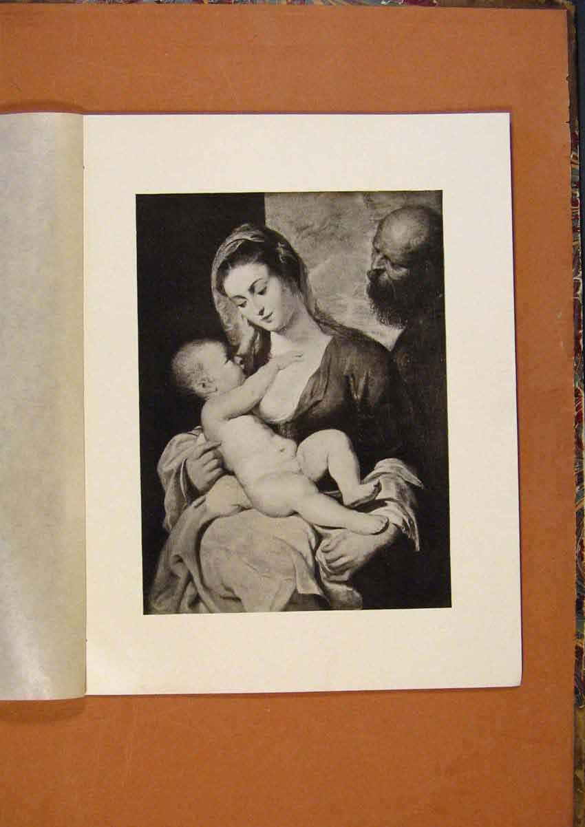Print Connoisseur 1902-1909 The Holy Family By P Rubens Art 388991 Old Original