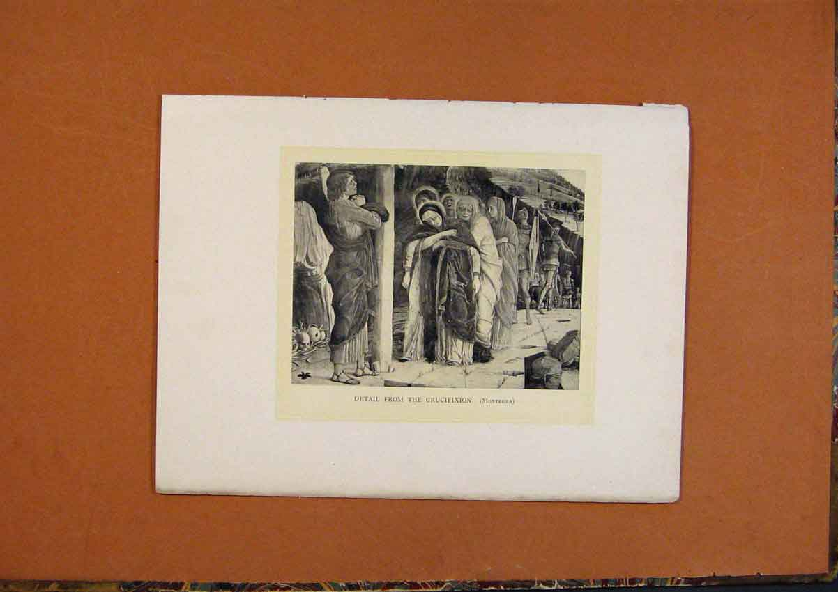 Print C1880 Detail From Crucifixion Montegna 478991 Old Original