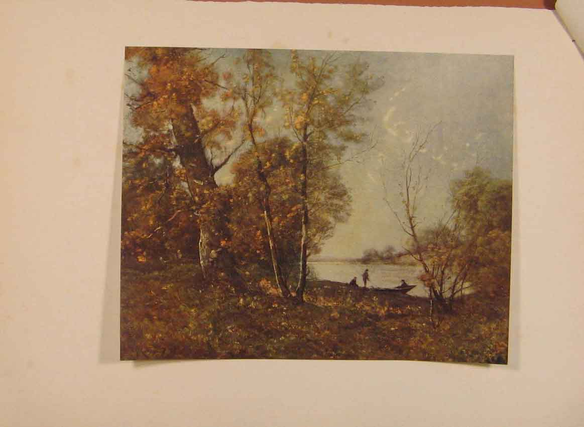 [Print English Art Les Bords De La Loire By H Harpignies C1915 029321 Old Original]