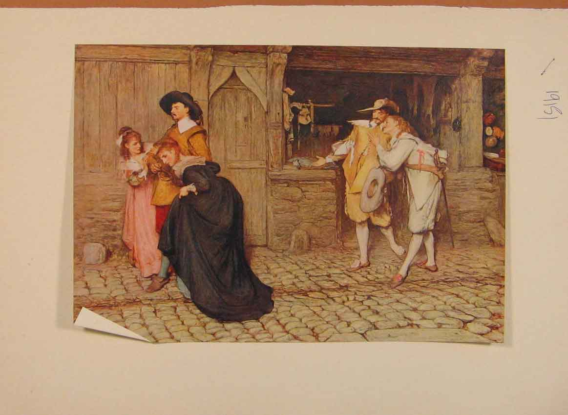 [Print English Art Scene Peveril The Peak By Sir Orchardson 059321 Old Original]