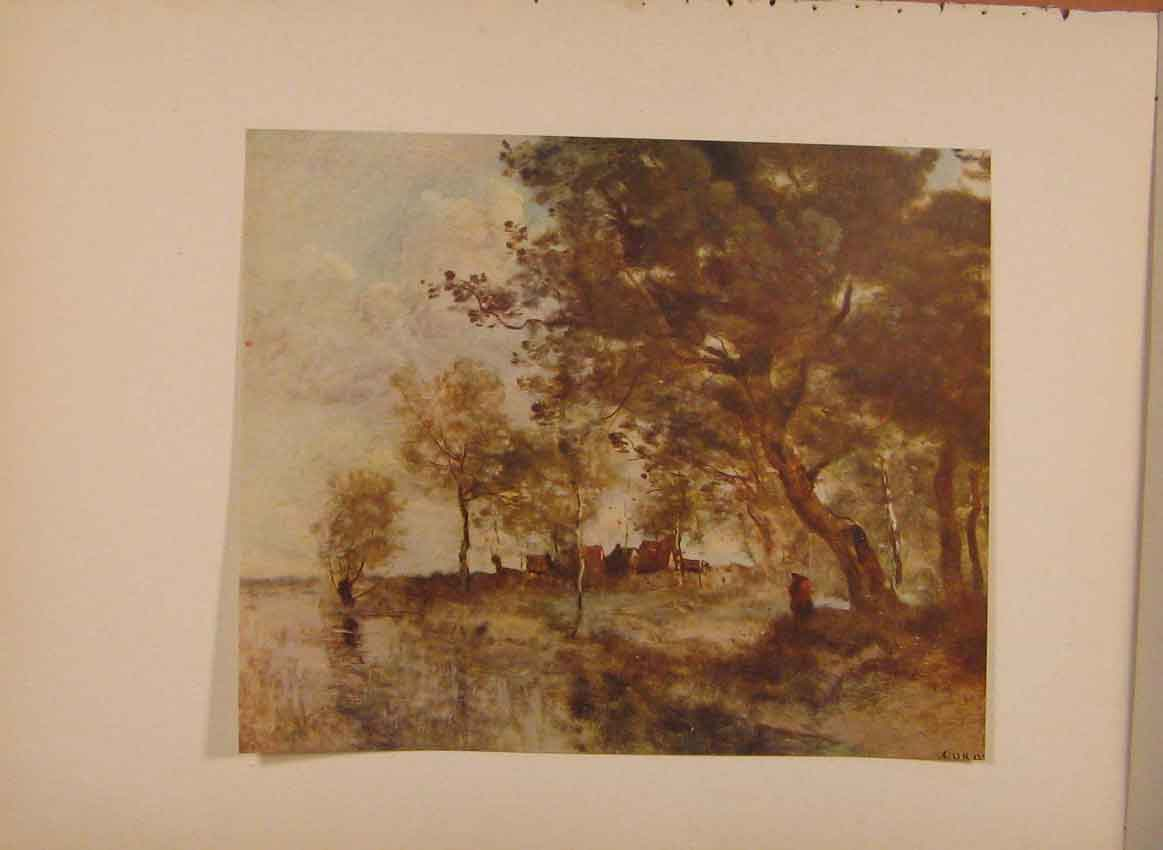 [Print English Art A Flood By Jean Baptiste Camille Corot Prin 319321 Old Original]