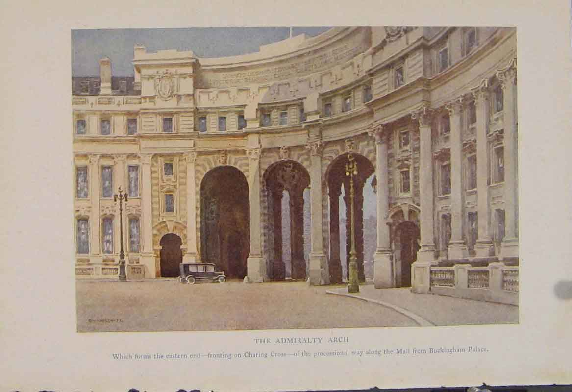 Print Painting By Haslehust Admiralty Arch English Country 269331 Old Original