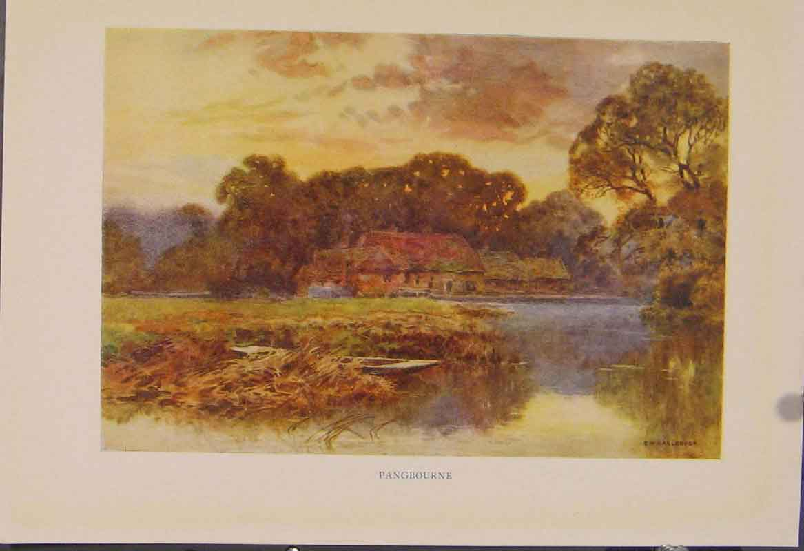 Print Painting By Haslehust Pangbourne English Country 459331 Old Original