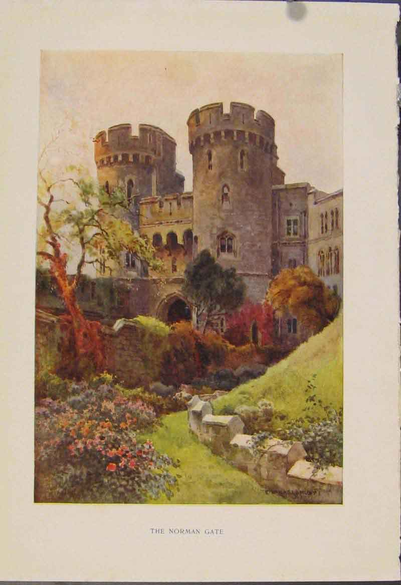 Print Painting By Haslehust Norman Gate English Country 559331 Old Original