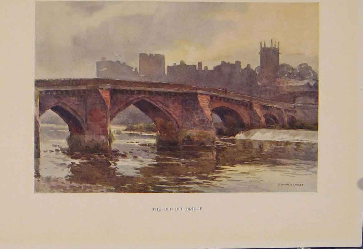 Print Painting By Haslehust Dee Bridge English Country 409331 Old Original