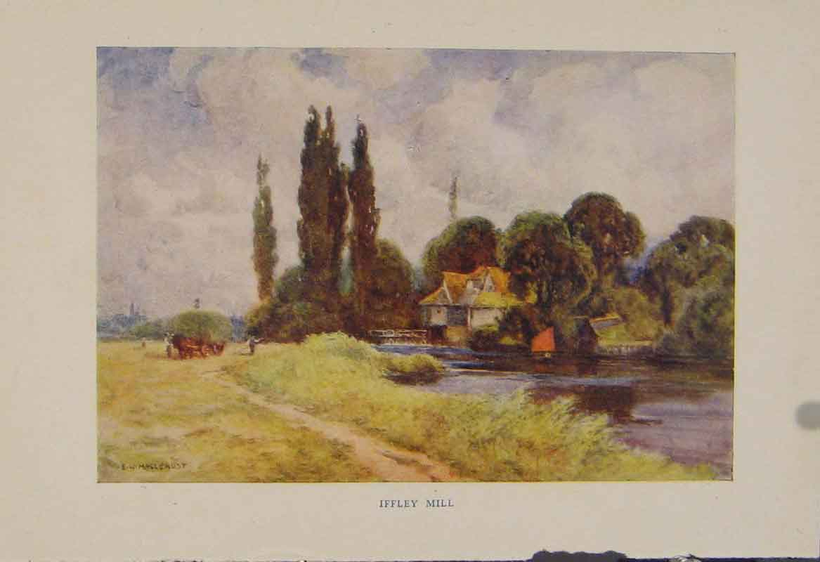 Print Painting By Haslehust Iffley Mill English Country 549331 Old Original