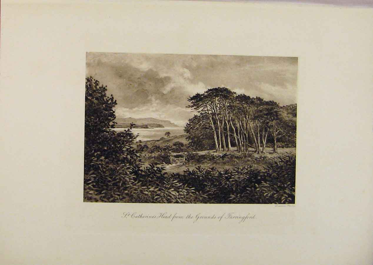 Print Laureate'S Country St Catherines Head By Edward Hull 029341 Old Original