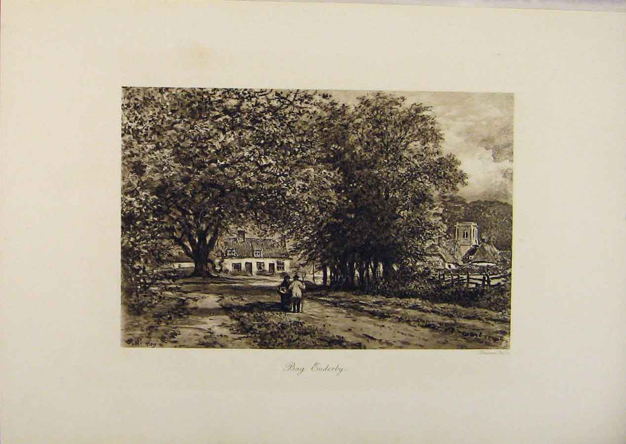 Print Laureate'S Country Bay Enderby By Edward Hull 099341 Old Original
