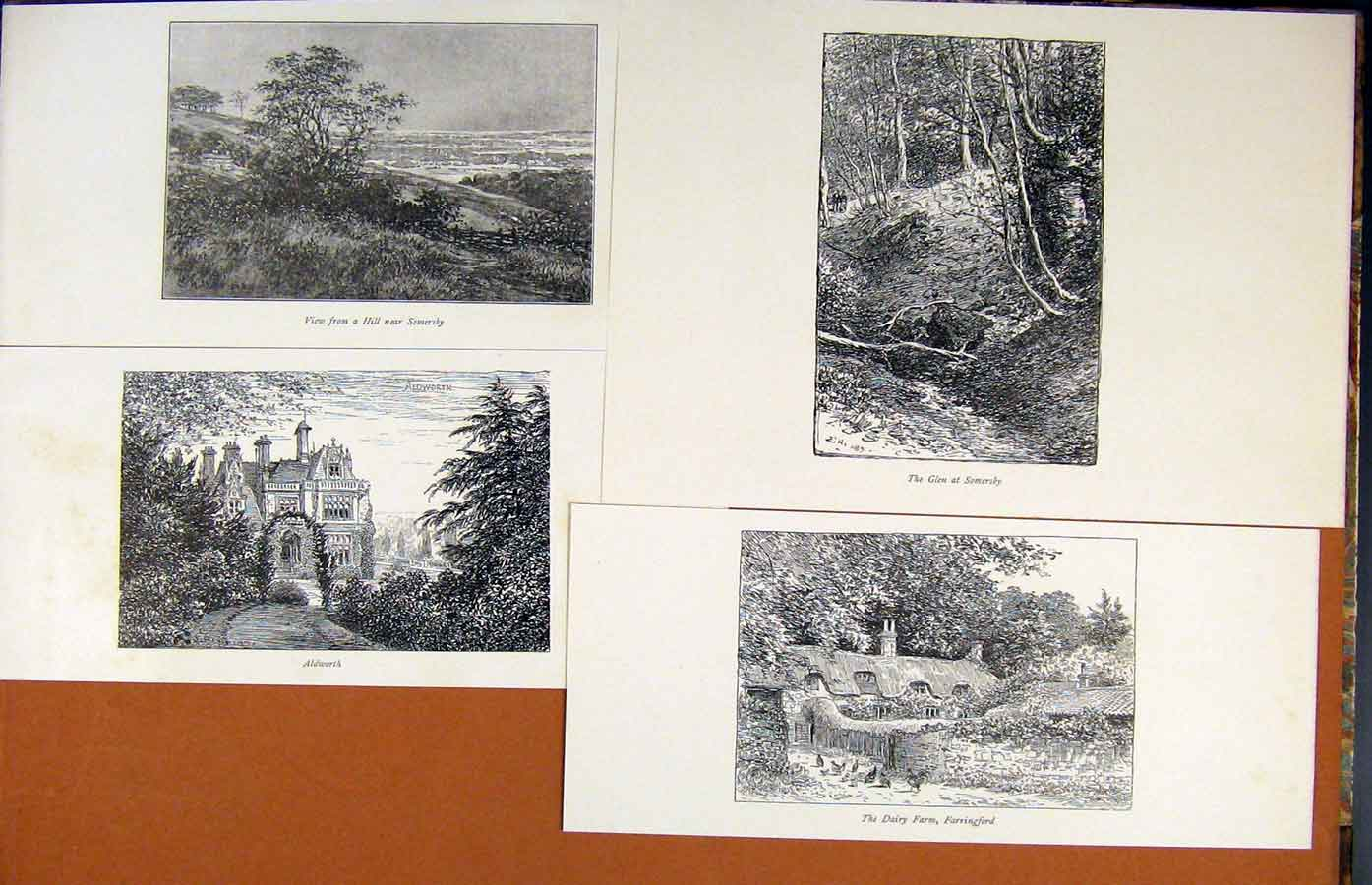 Print Laureate'S Country Sommersby Glen Hill Aldworth 219341 Old Original