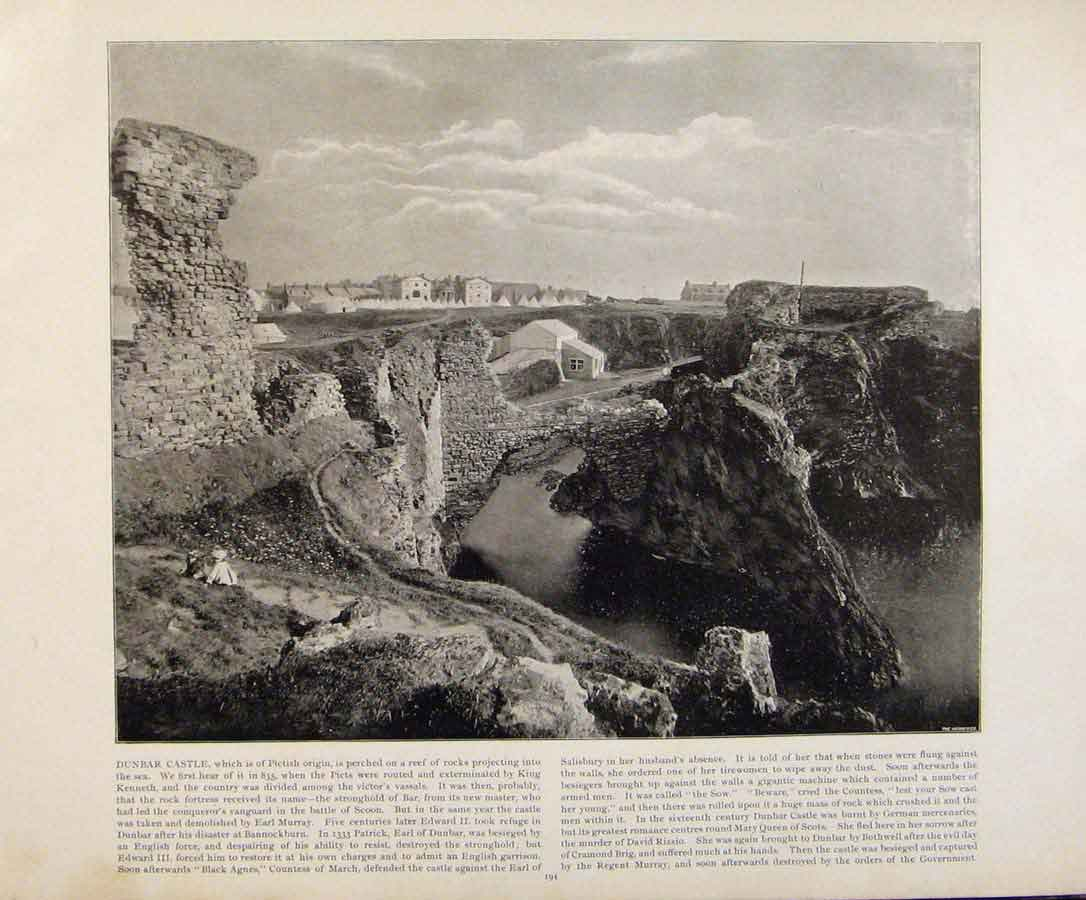 Print Beautiful Britain The Tower Penrhyn Early Photograph 959361 Old Original