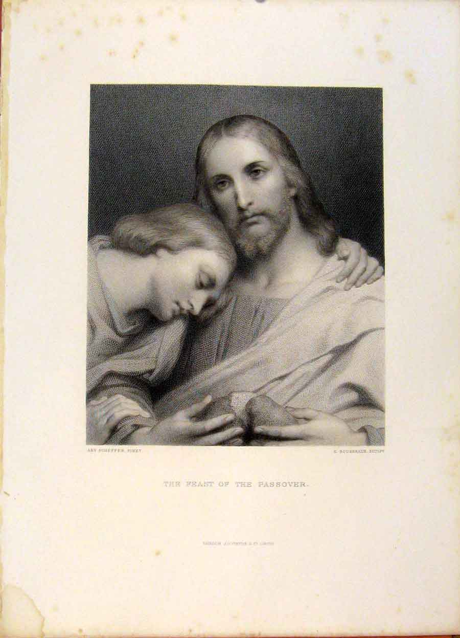 Print The Holy Bible The Feast The Passover Engraving Art 359371 Old Original