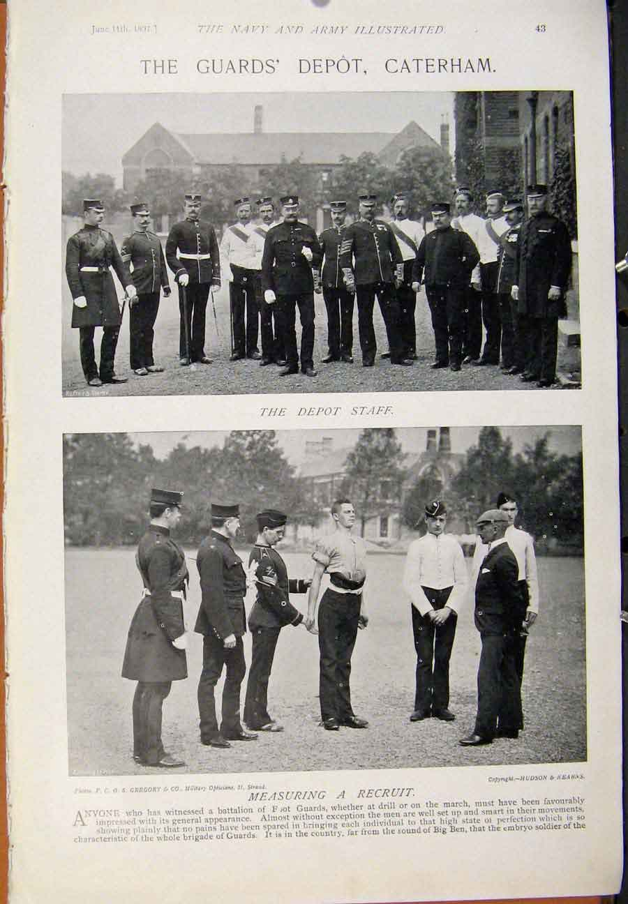 [Print Navy & Army New Arrival Guards Depot Caterham Pritn 449391 Old Original]