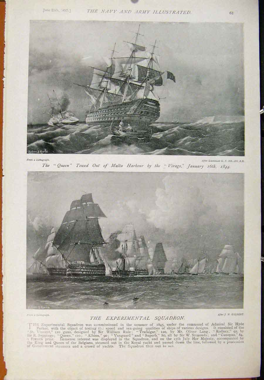 [Print Navy & Army War With Russia British Fleet Baltic 629391 Old Original]