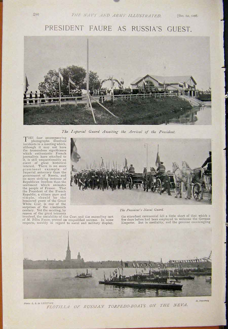 [Print Navy & Army View After Bridge Hms Renown President Faur 859391 Old Original]
