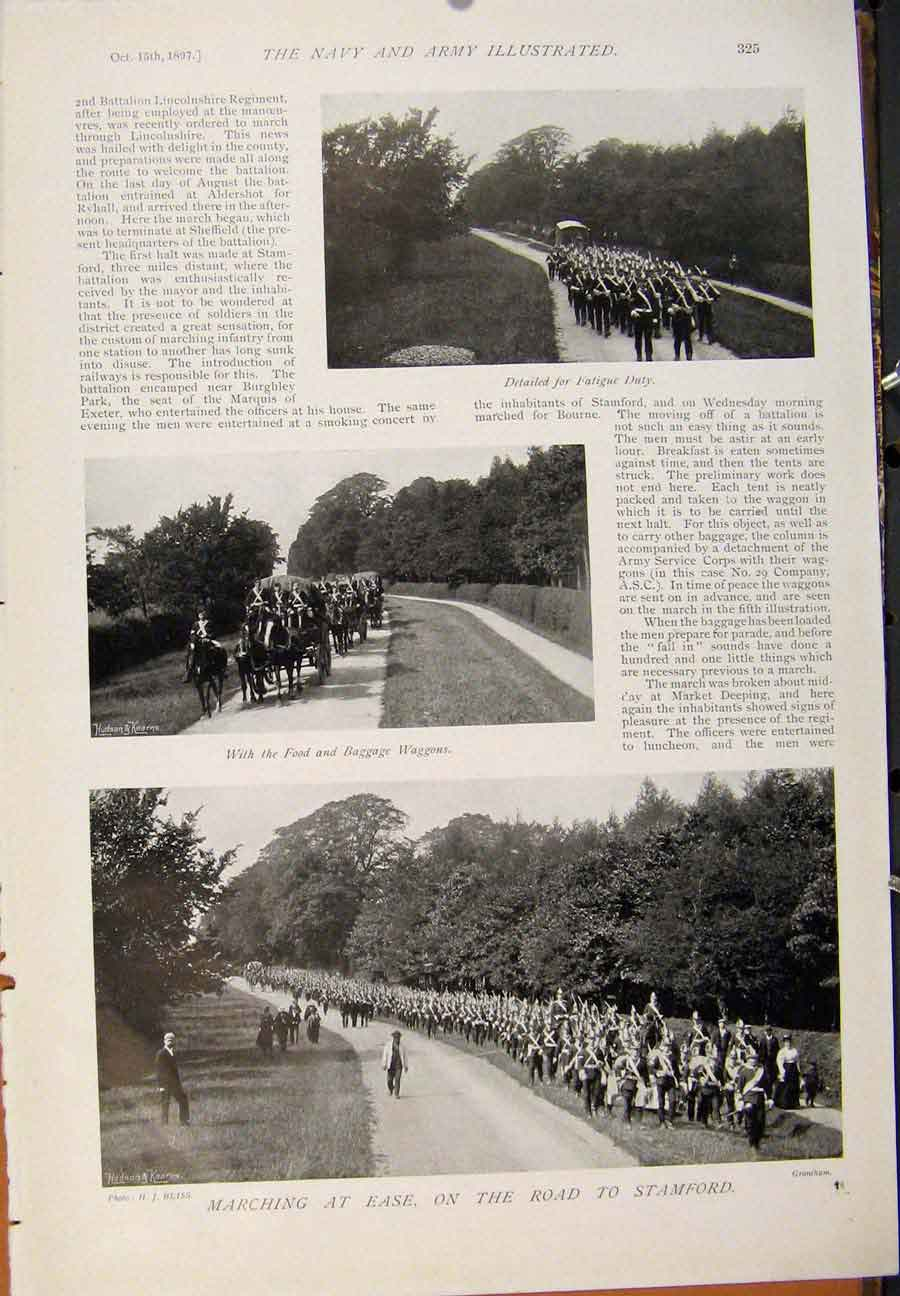 [Print Navy & Army New Zealand Defence Forces Stamford Road 269391 Old Original]