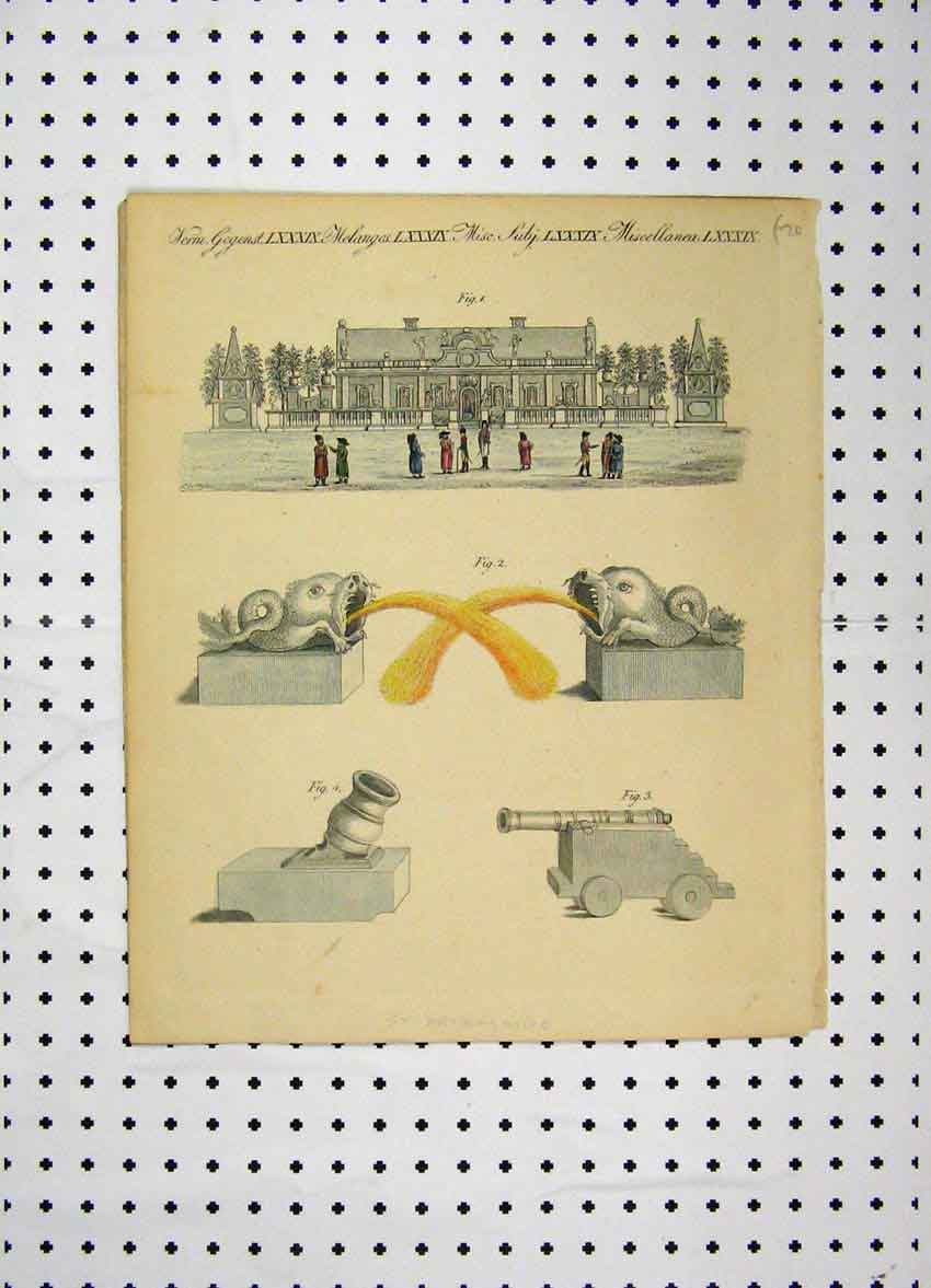 Print Colour C1800 Petersburgh Costumes World Fish Gun 101A102 Old Original